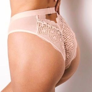 New! VS HIGH-WAIST CHEEKY PANTY Large